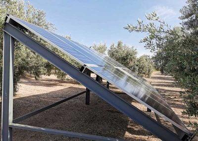 Instalación de bombeo solar en Bailén (Jaén)