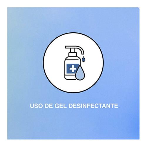 Medidas de protección de Aficlima Solar ante la COVID-19: uso de gel desinfectante