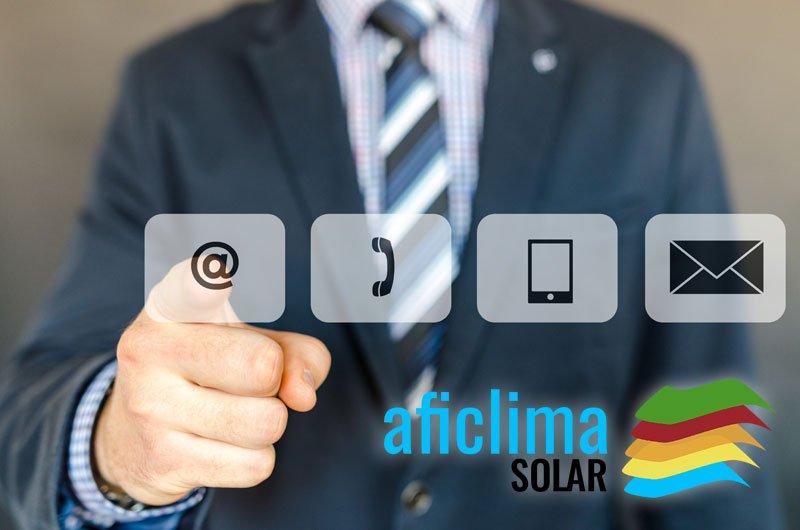 Contactar con Aficlima Solar