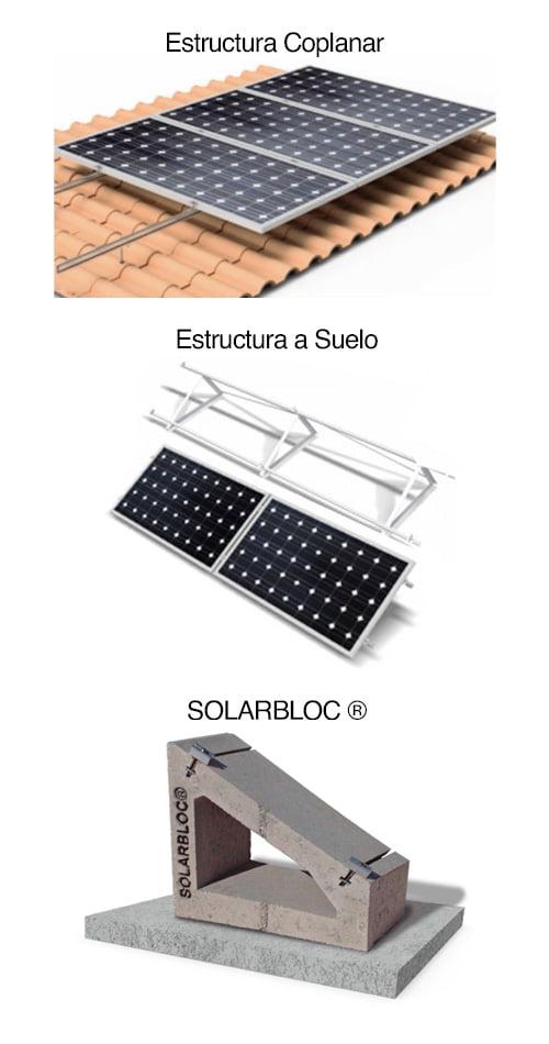 Estructuras para la instalación de placas solares
