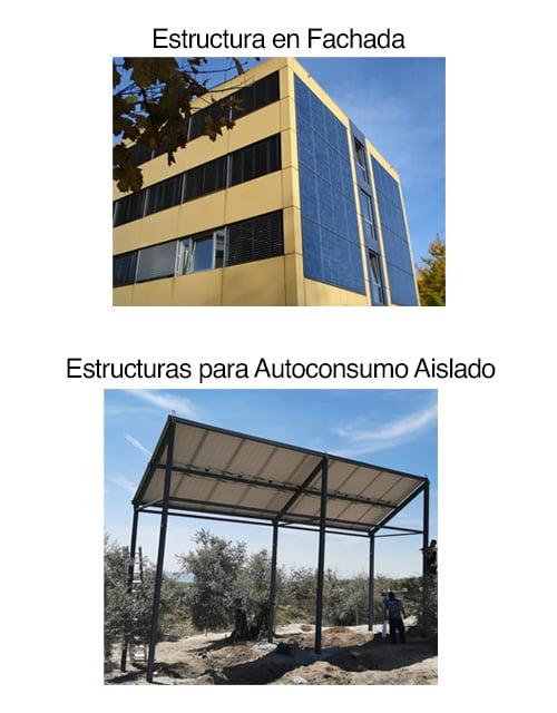 Otras estructuras para la instalación de placas solares